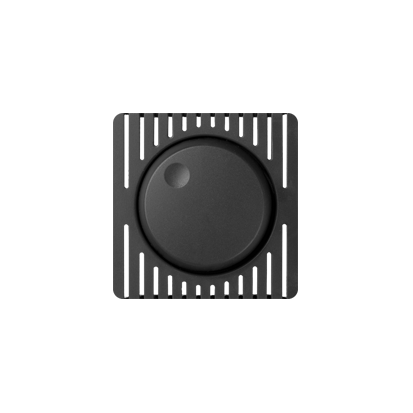 Abdeckung für Drehdimmer 1000W graphit matt Kontakt Simon 82 82035-38