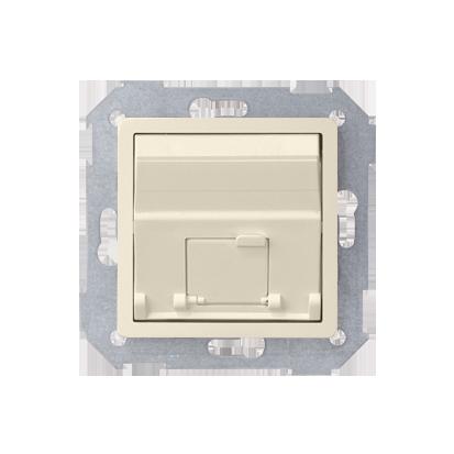 Abdeckung für UAE- Dose RJ45 1fach beige schräg Kontakt Simon 82 82578-31