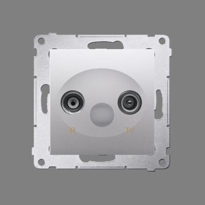 Antennendose R-TV Durchgangsdose 10dB silber matt Simon 54 Premium Kontakt Simon DAP10.01/43