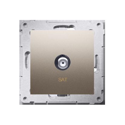 Antennendose SAT Einsatz gold matt Simon 54 Premium Kontakt Simon DASF1.01/44