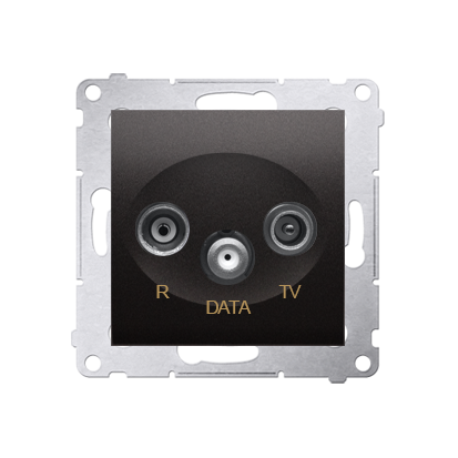 Antennensteckdose R-TV-DATA 10dB anthrazit matt Simon 54 Premium Kontakt Simon DAD.01/48