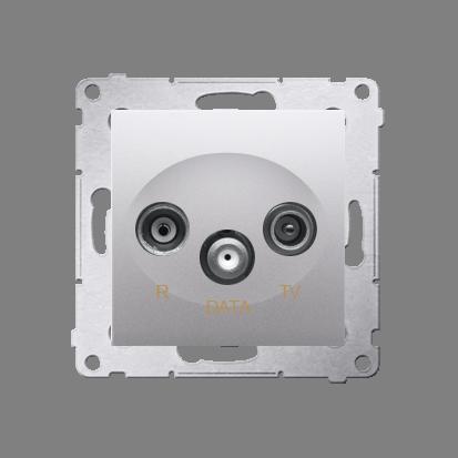 Antennensteckdose R-TV-DATA 10dB silber matt Simon 54 Premium Kontakt Simon DAD.01/43
