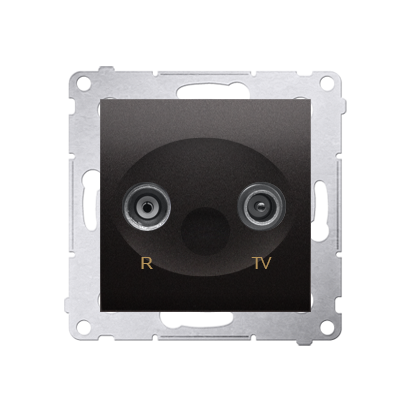 Antennensteckdose R-TV Durchgangsdose 10dB anthrazit matt Simon 54 Premium Kontakt Simon DAP10.01/48
