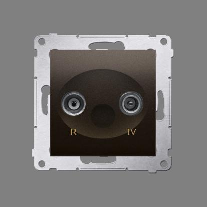 Antennensteckdose R-TV Endsdose 10dB braun matt Kontakt Simon 54 Premium DAZ.01/46