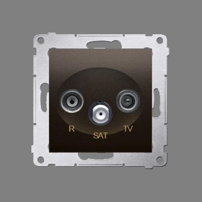 Antennensteckdose R-TV-SAT Durchgangsdose braun matt Simon 54 Premium Kontakt Simon DASP.01/46