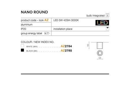 Aufbaustrahler NANO ROUND Modern Aluminium Weiß Azzardo AZ2784