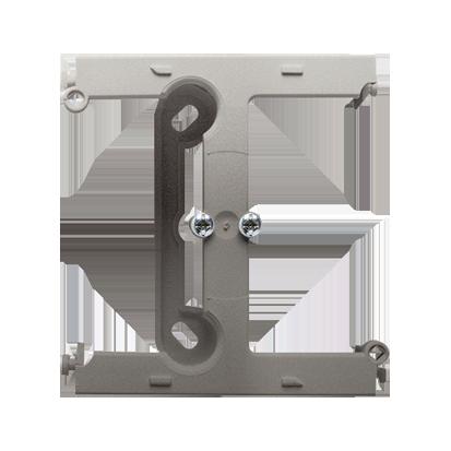 Aufputz- Gehäuse tief (40mm) mit Erweiterungmodul für Rahmen 1fach satin (met.) Kontakt Simon PSH/29
