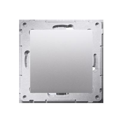 Blindverschluss mit Zentralstück für Rahmen Simon 54 Premium silber matt Kontakt Simon DPS.01/43