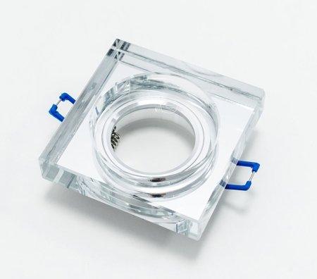 Deckenleuchte Deckenstrahler eckig GU10/MR16 Glas silber