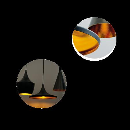 Deckenleuchte PendelleuchteLACRI SQ 3xE27 schwarz vergoldet EDO777181 EDO