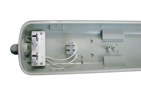 Deckenleuchte Wannenleuchte Feuchtraumleuchte 2x120cm G13 IP65 ABS/PS