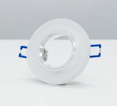 Deckenstrahler Einbaustrahler aus Glas dekorativ Alu rund