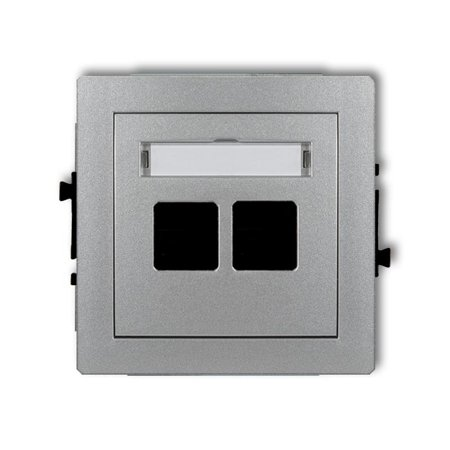 Doppelte Multimedia-Slot-Mechanismus ohne Modul (Keystone-Standard) silber 7DGM-2P