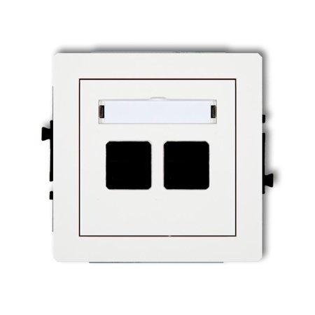 Doppelte Multimedia-Slot-Mechanismus ohne Modul (Keystone-Standard) weiß DGM-2P