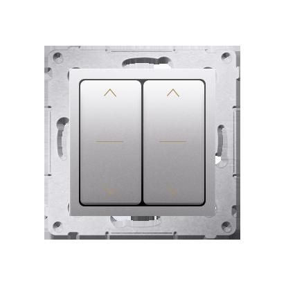Doppelter Jalousie-Schalter (Modul) und Aufdruck Silber (1-0-2) Kontakt Simon 54 Premium DZW2.01/43