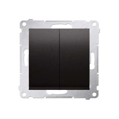 Doppelter Kerzenschalter (Modul) IP44 Anthrazit matt Kontakt Simon 54 Premium DW5B.01/48