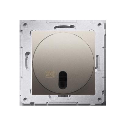 Druckdimmer (Modul) mit Fernbedienung 20- 500W gold matt Simon 54 Premium Kontakt Simon DS13T.01/44