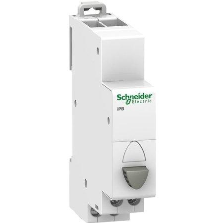 Drucktaster Einfach (Rückstellung) iPB-20-11 20A 1NO+1NC grau Schneider