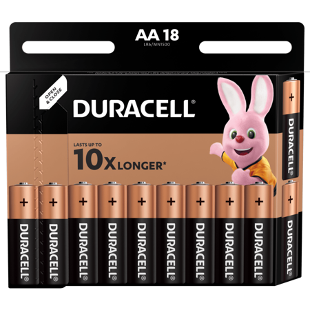 Duracell Alkaline-Batterien AA LR6 1,5V DURACELL Blister 18 Stück