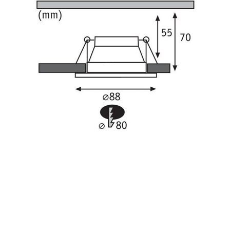 Einbauleuchte dimmbar COLE LED 6,5W 2700K IP44 weiß/Gold Paulmann PL93405