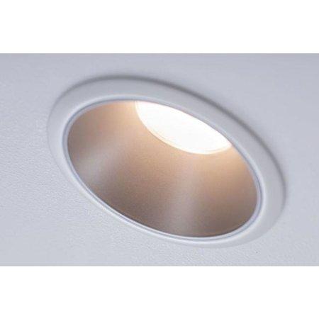 Einbauleuchte dimmbar COLE LED 6,5W 2700K IP44 weiß/Silber Paulmann PL93409