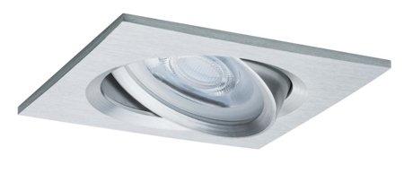 Einbauleuchte schwenkbar quadratisch dimmbar LED Premium EBL Nova 1x7W GU10 Aluminium