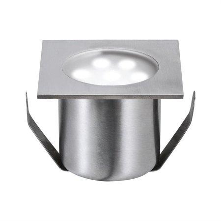 Einbauleuchten-Basisset quadratischch ohne Stromversorgung Mini Boden IP44 4x0,6W 7000K
