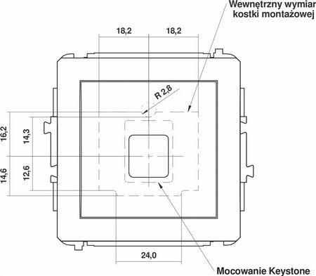 Einzelner Multimedia-Slot-Mechanismus ohne Modul (Keystone-Standard) braun 9DGM-1P