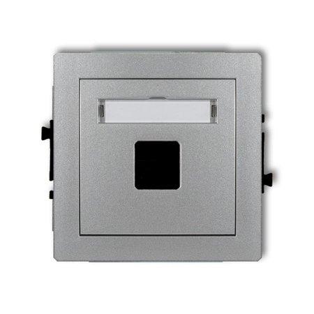 Einzelner Multimedia-Slot-Mechanismus ohne Modul (Keystone-Standard) silber 7DGM-1P