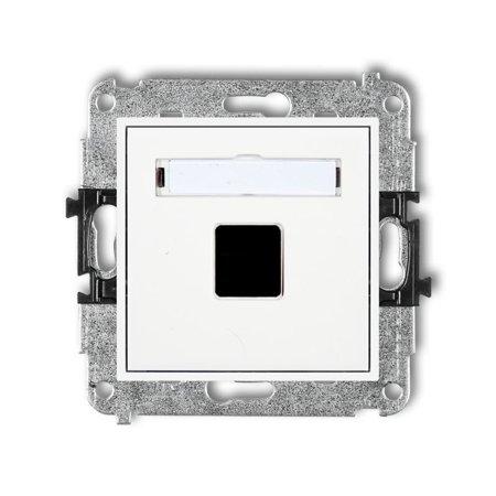 Einzelner Multimedia-Slot-Mechanismus ohne Modul (Keystone-Standard) weiß MGM-1P