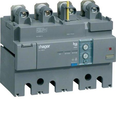 FI-Block Baugröße h630 4polig 500A Idn einstellbar Hager HBD631H