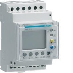 Fehlerstromschutz-Relais 30mA-30A mit Zeitverzögerung 50% Ausgang LCD Anzeige Hager HR525