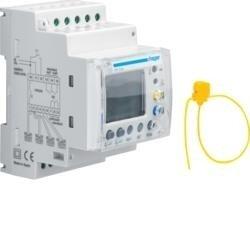 Fehlerstromschutz-Relais 30mA-30A mit Zeitverzögerung LCD Anzeige 4 Wege Hager HR534