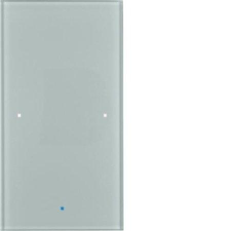 Glas-Sensor 1fach Komfort TS Sensor alu Hager 75141034