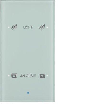 Glas-Sensor 2fach Komfort TS Sensor konfiguriert polarweiß Hager 75142930
