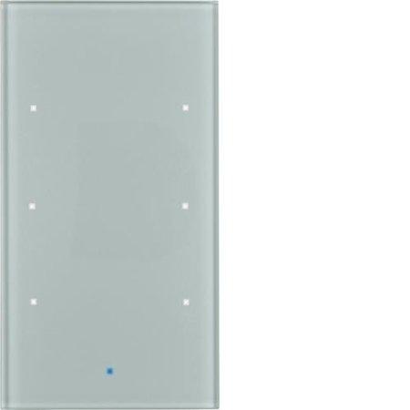 Glas-Sensor 3fach Komfort TS Sensor alu Hager 75143034