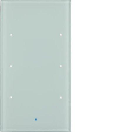 Glas-Sensor 3fach Komfort TS Sensor polarweiß Hager 75143830