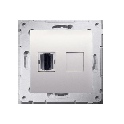 HDMI Anschlussdose Modul-Einsätze 1fach cremeweiß matt Simon 54 Premium Kontakt Simon DGHDMI.01/41