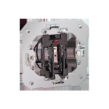 Hotelschalter- Einsatz mit LED 2 microswitch 6A Kontakt Simon 82 26550-39