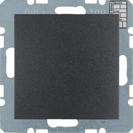 KNX CO2 Sensor mit Luftfeuchte- und Temperat., S.x/B.x anthrazit matt lackiert Hager 75441385