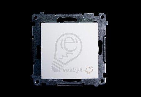 Klingeltaster(Modul) mit Aufdruck Steckklemmen weiß Simon 54 Premium Kontakt Simon DD1.01/11
