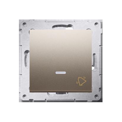 Klingeltaster(Modul) mit Aufdruck und LED Gold Kontakt Simon 54 Premium DD1L.01/44
