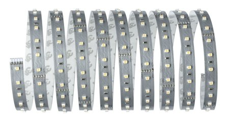 Komplettset mit Stripe LED 3m Warmweiß MaxLED 500 20W 2700K 1650lm 230/24V Silber