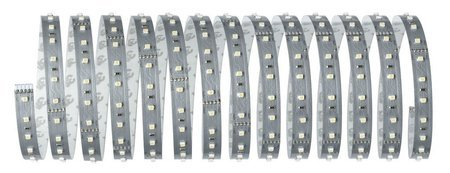Komplettset mit Stripe LED 5m Tageslicht MaxLED 500 28,5W 6500K 2750lm 230/24V Silber