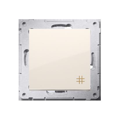 Kreuzschalter (Modul) mit Aufdruck  Steckklemmen cremeweiß Simon 54 Premium Kontakt Simon DW7.01/41