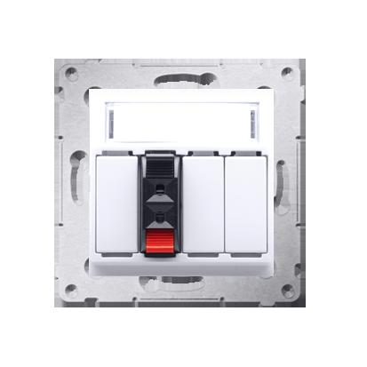 Lautsprecher Anschlussdose Modul-Einsätze 1fach Kontakt Simon 54 Premium DGL31.01/11