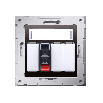 Lautsprecher Anschlussdose Modul-Einsätze 1fach anthrazit matt Kontakt Simon 54 Premium DGL31.01/48