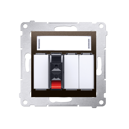 Lautsprecher Anschlussdose Modul-Einsätze 1fach braun Kontakt Simon 54 Premium DGL31.01/46