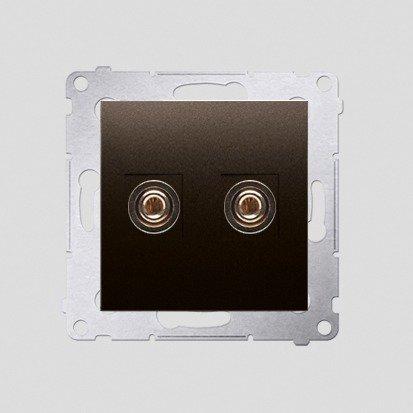 Lautsprecher Anschlussdose Modul-Einsätze 1fach braun matt Simon 54 Premium Kontakt Simon DGL2.01/46