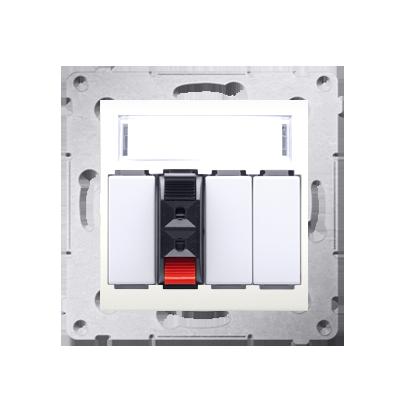 Lautsprecher Anschlussdose Modul-Einsätze 1fach cremeweiß Kontakt Simon 54 Premium DGL31.01/41